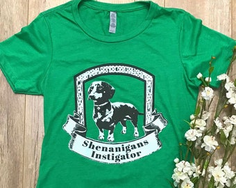 SHENANIGANS INSTIGATOR Womens T Shirt in Green