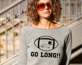 GO LONG!! Sweatshirt in Heather Grey