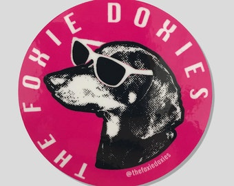 THE FOXIE DOXIES Pink Stickers