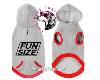 FUN SIZE Dog Hooded Sweatshirt