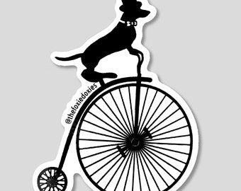 HIGH WHEELER Dachshund Stickers