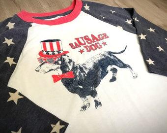 SaUSAge Dog 3/4 Sleeve T-Shirt