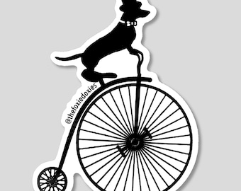 HIGH WHEELER Dachshund Stickers
