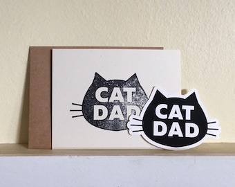 Card from the Cat: Cat Dad Holiday Card Handwritten from Your Cat