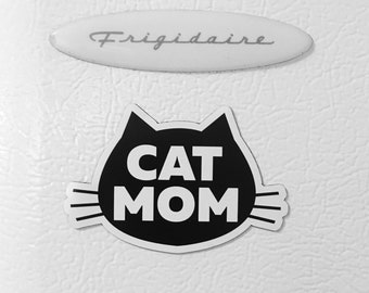 Cat Mom Refrigerator Magnet