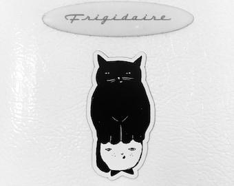 Cat Hat Refrigerator Magnet