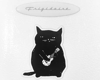Ukulele Cat Refrigerator Magnet