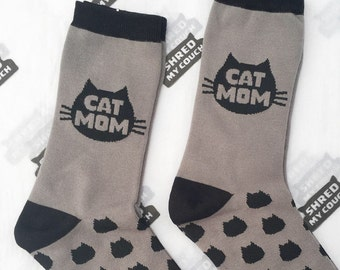 Cat Mom Socks Matching Set Deal