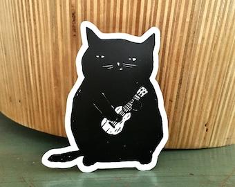 Ukulele Cat sticker
