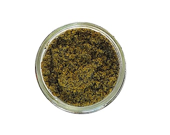 Soothing Herbal Matcha Green Tea Face Scrub - Zero Waste - Wildcrafted Herbs