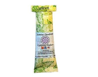 Jasmine Aluminum Free Deodorant - Essential Oil - Biodegradable Tube - Chemical Free
