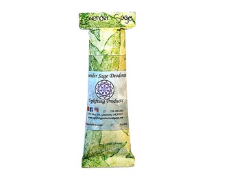 Lavender Sage Aluminum Free Deodorant - Chemical Free Biodegradable Tube