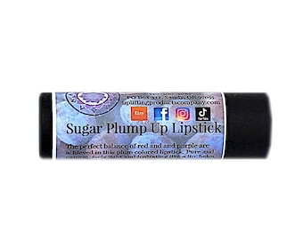 Sugar Plump Up Lipstick - Hydrating Cocoa Butter - Biodegradable Tube