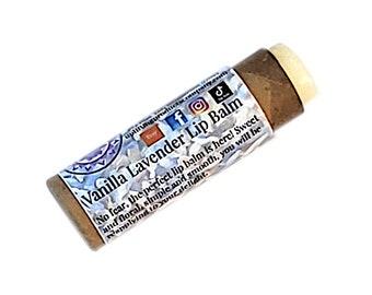Vanilla Lavender Lip Balm - Biodegradable Tube - Chemical Free Essential Oil