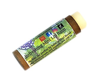 Refreshing Mint Lip Balm - Biodegradable Tube - Essential Oil Chemical Free