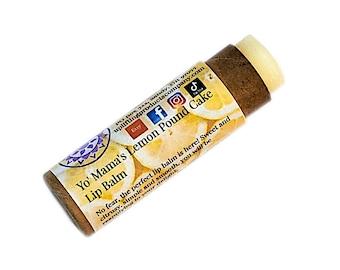Yo' Mama's Lemon Pound Cake Lip Balm - Biodegradable Tube - Essential Oil Chemical Free