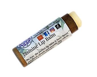 Jasmine Lip Balm - Biodegradable Tube - Essential Oil