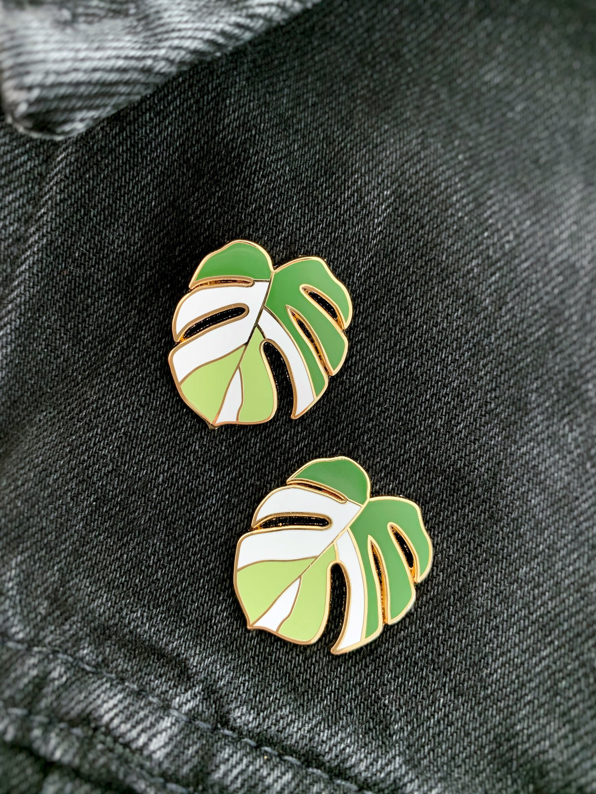 Philodendron Pink Princess Hard Enamel Pin CubeHouseJungle Plant Collector Houseplant Brooch