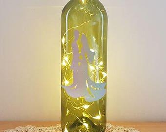 Lit Bottle Kit - Bride & Groom 1, Bottle Lamp, Wine Bottle Light, Bottle Light, Table Decor, Unusual Gift, Bottle, Craft Kit, Crafty Creases