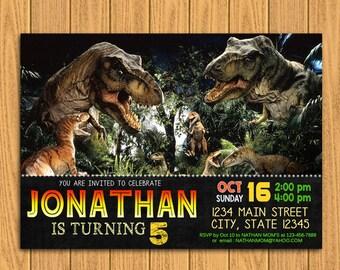 "Jurassic world invitation, Personalized Invitation 5x7"" or 4x6"", digital invitation, invitation, jurasic world, jurassic invitation"