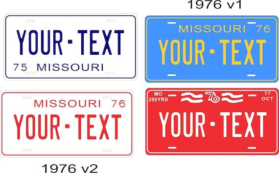 Missouri 1972 Plate Personalized Custom Car Bike Motorcycle Moped Key Tag