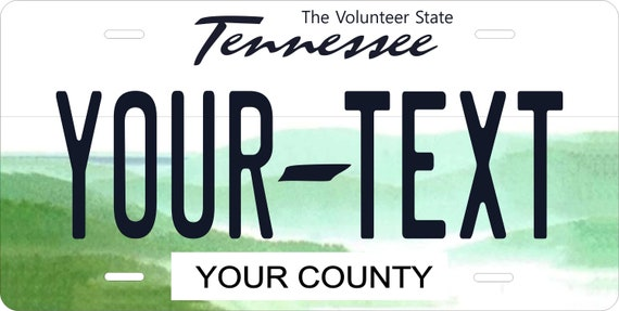 CUSTOM PERSONALIZED ALUMINUM BICYCLE MINI STATE LICENSE PLATE-TENNESSEE WILDLIFE