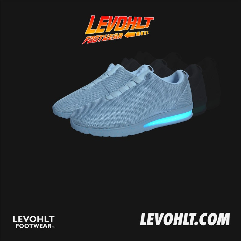 the latest e1dfa a7bb1 Levohlt Lowtop LED Sneaker Back From The Future Nike Air   Etsy