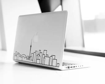 Toronto Skyline Art Decal - Decorative sticker for MacBook / laptop / wall / door / window