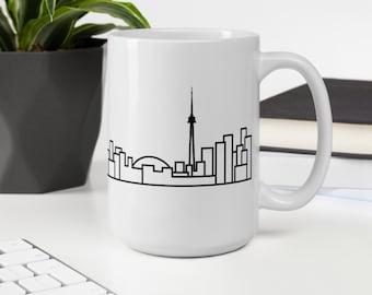 White Ceramic Toronto Skyline Mug