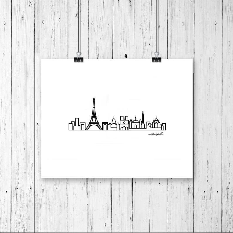 Skyline Prints  Europe  Unframed digital graphic  Paris
