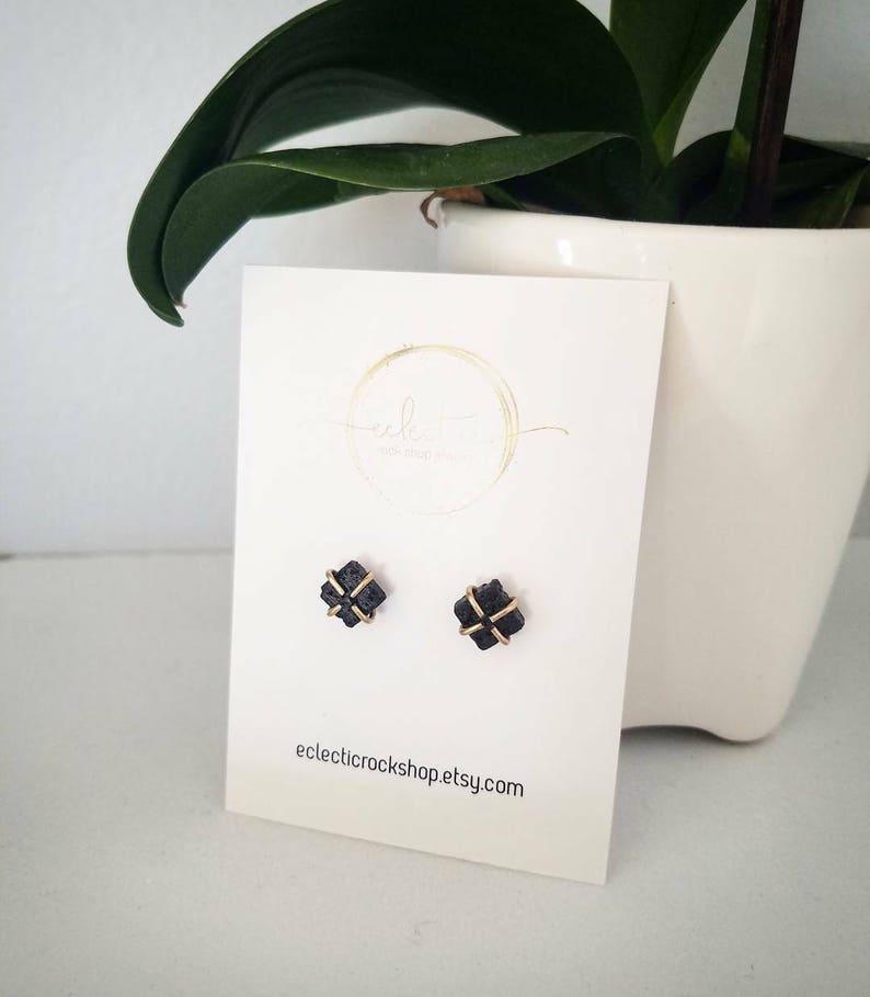 The Erin Lava Essential Oil SquareDiamond Diffuser Earrings