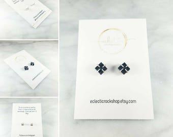 """The """"Erin"""" Lava Essential Oil Square/Diamond Diffuser Earrings"""