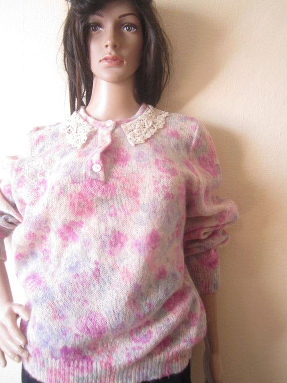 Vintage Kid Mohair Sweater 60s - image 4