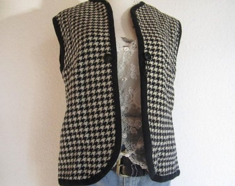 Vintage vest wool Houndstooth wool vest S / M