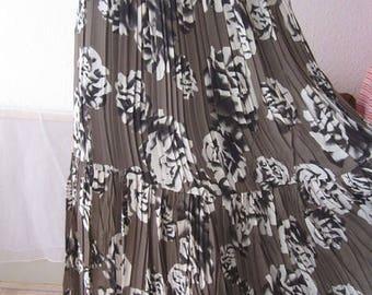 Vintage 80s pleated skirt high waist skirt s