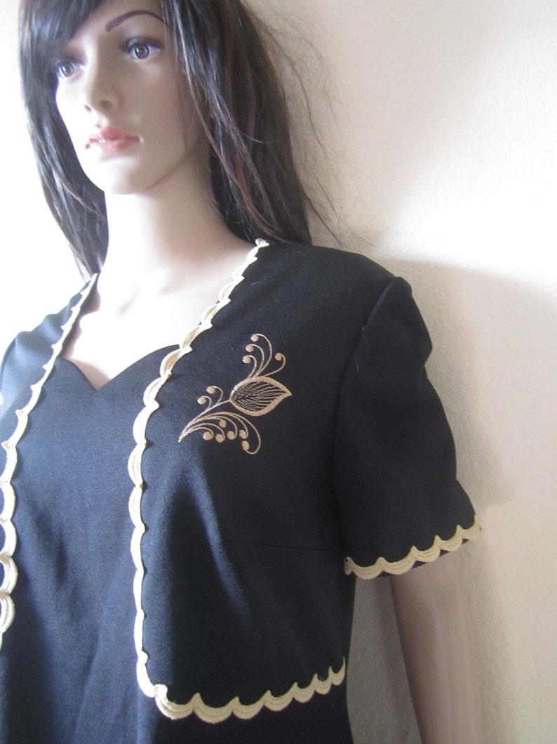 Vintage 50s sheath dress dress rockabilly Hepcat dress L