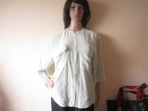 Vintage Otto Core Silk Blouse with Hearts and Hood Black and White