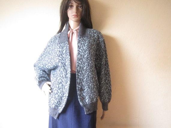 Vintage Miss Hudson 70s Wool Cardigan 70er Jahre S