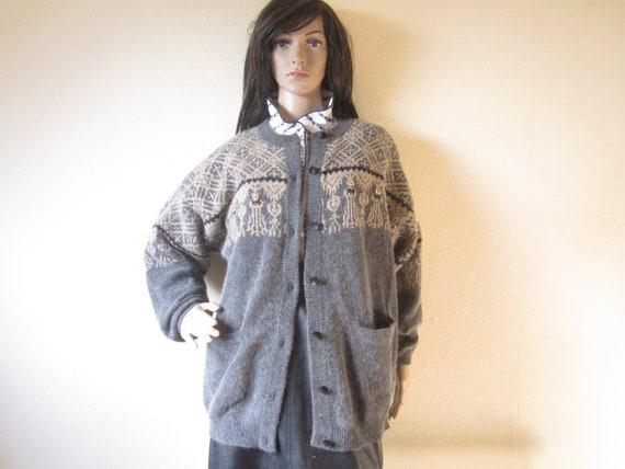 Vintage Angora Wool Cardigan Strickjacke Wolle Via