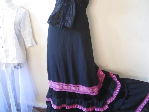 Vintage 70s Lucie Linden Velvet Skirt 70s Skirt Ma