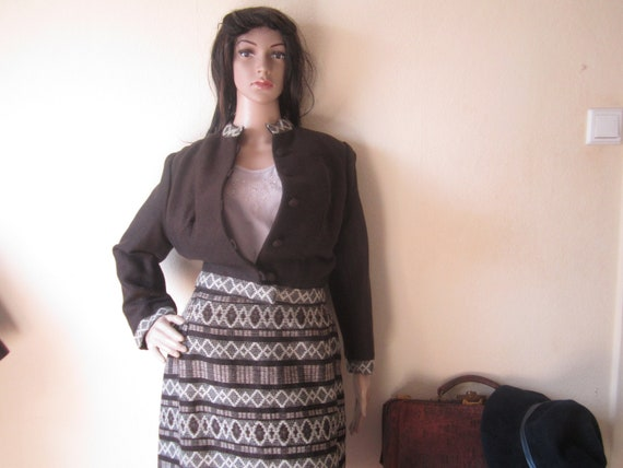 Original 40s Handwoven Vintage Costume 40s Skirt D