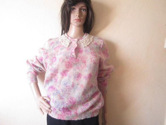 Vintage Kid Mohair Sweater 60s - image 3