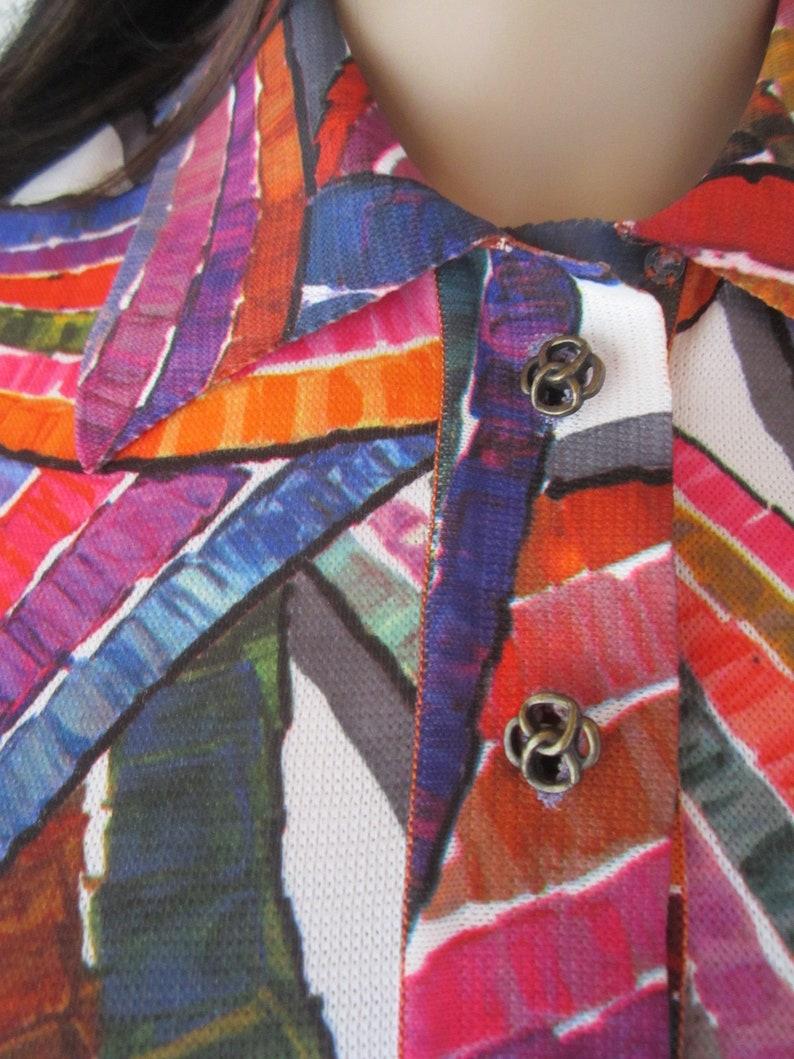True Vintage 70s Op Art Diolen Neon Shirt Mini Kleid Dress ...