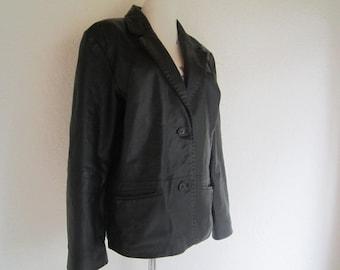 Vintage 90s leather jacket blazer m