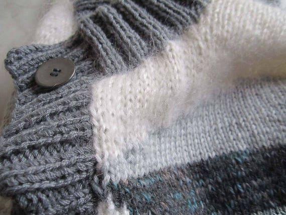 Vintage Handmade Wool Cardigan Strickjacke Oversi… - image 6