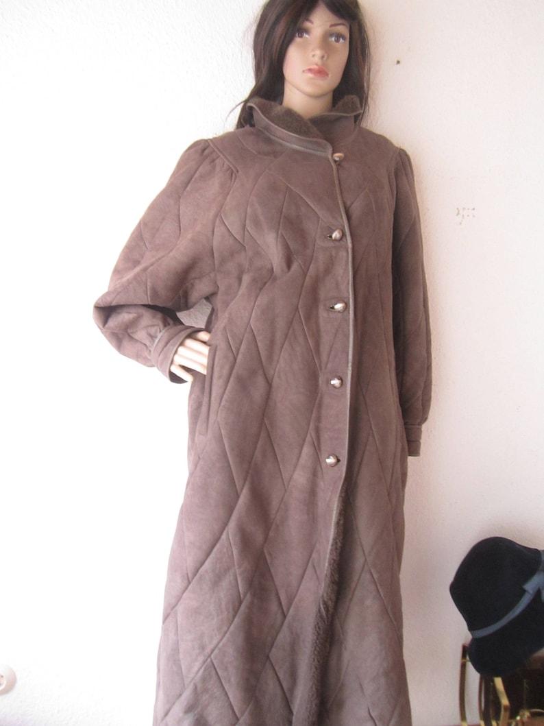 Vintage anni 80 Striwa Sherling pelle cappotto di pelle di  9643198a0bb