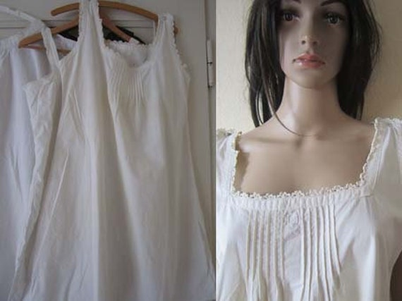Original Edwardian 1900's Antique Nightgown Underd