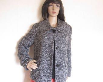"Vintage 90s ""Gerry Weber"" Boucle wool coat jacket M """""