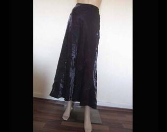 Vintage 80s taffeta skirt tulle skirt Maxi skirt purple iridescent unique 40/m