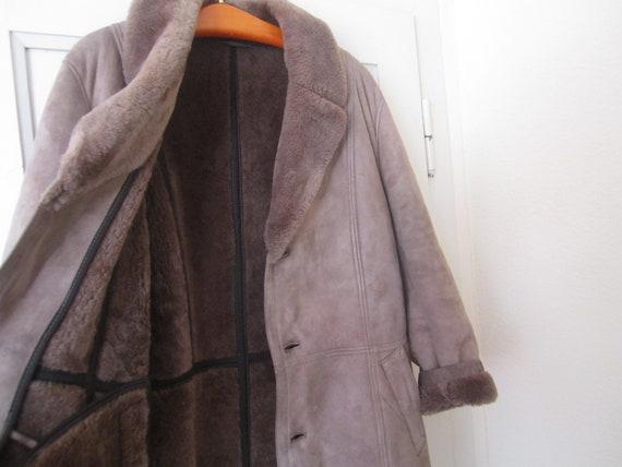 Vintage 40's Sheepskin Coat Leather Jacket